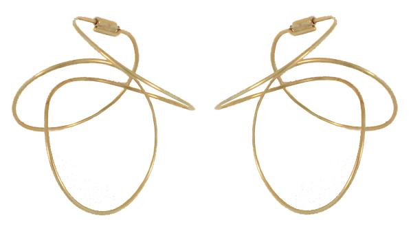 Mobile Earrings In 14 Kt Gold