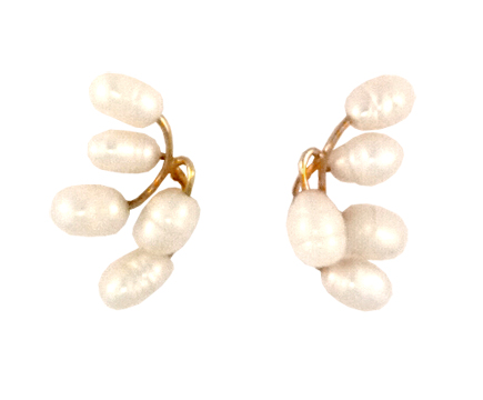 Baby S Breath Earring In 14 Kt Gold And Freshwater Cultured Pearl